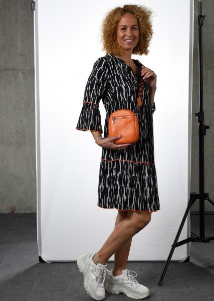 Kleid im Batikdessin - 3/4 Arm-