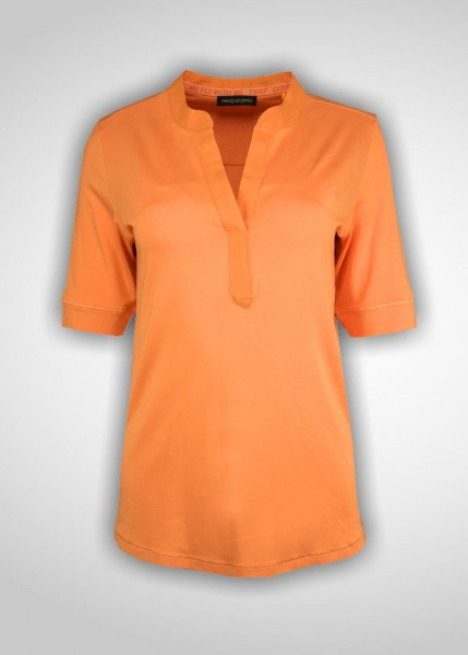 T-Shirt - 1/2 Arm - Farbe mango