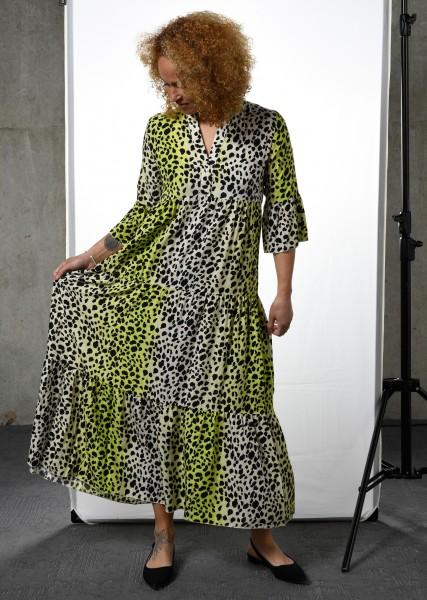 Maxi Kleid im Leodessin - 3/4 Arm