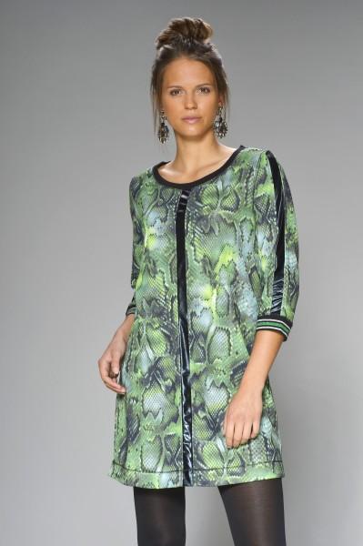 Kleid mit grünem Snakeprint