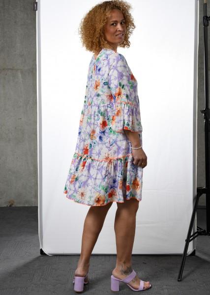 Sommerkleid mit floralem Dessin - 3/4 Arm
