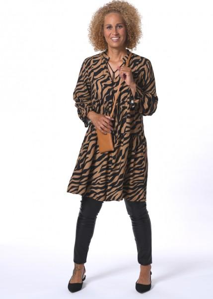 Tunika Kleid im Zebra Dessin - 1/1 Arm