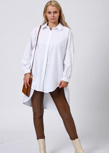 Ultra oversized Hemdbluse in weiß