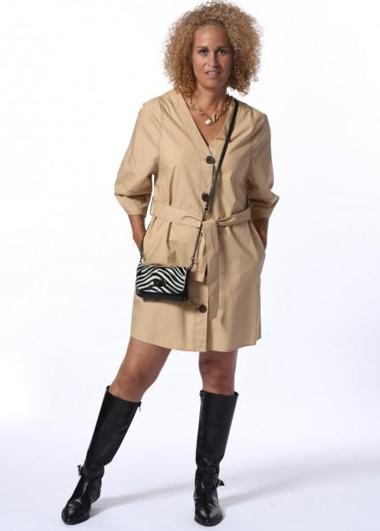 Blusenkleid in Farbe camel