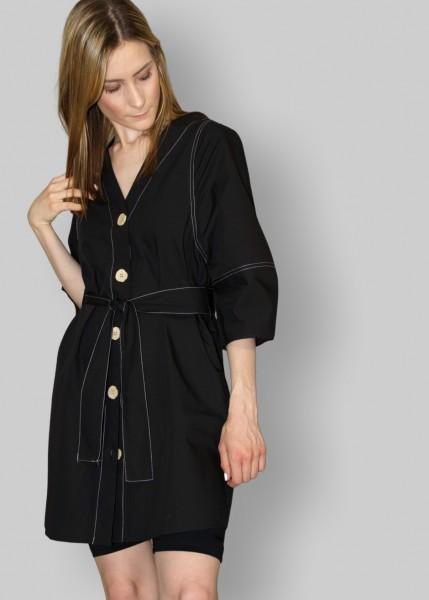 Blusenkleid in schwarz