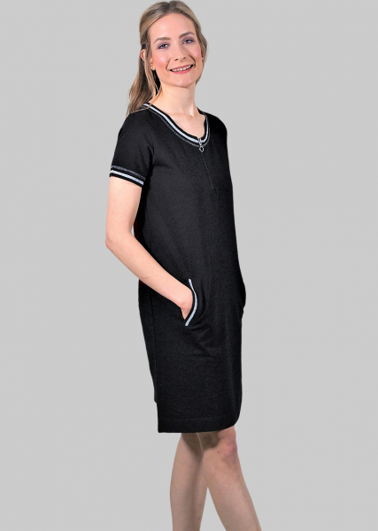 Sportives Sweatkleid in schwarz