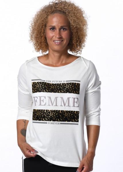 Shirt -3/4 Arm und Frontprint