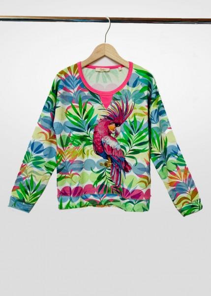 Sweatshirt mit exotischem Print