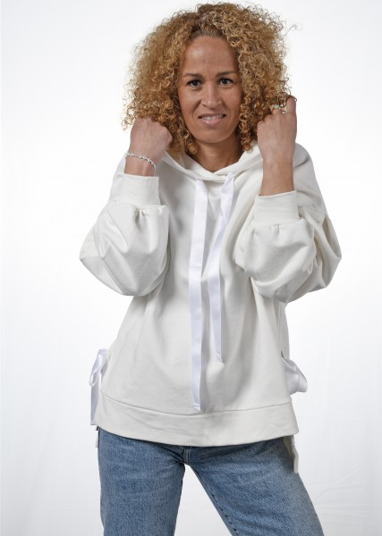 Hoodie - oversized - offwhite