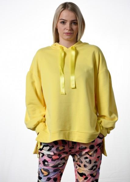 Hoodie - oversized - lemon