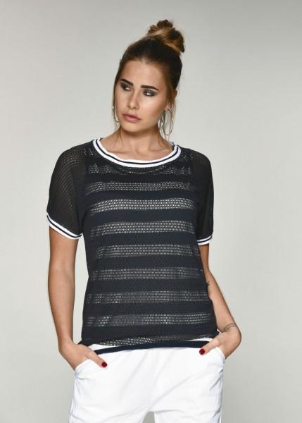T-Shirt in Netzstoff Optik