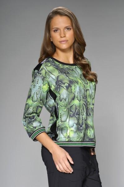 Leichtes Sweatshirt mit grünem Snakeprint