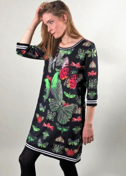 Kleid mit Schmetterlingsprint