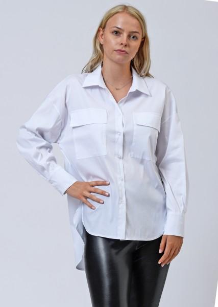 Hemdbluse in weiß