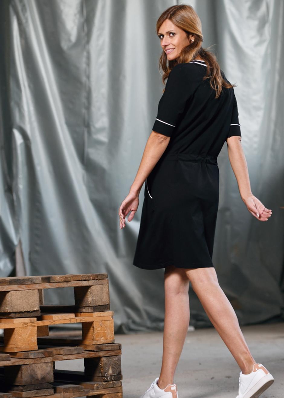 Sportives VAusschnitt Kleid in schwarz  Kleider  PRODUCTS  SalzkornFashion