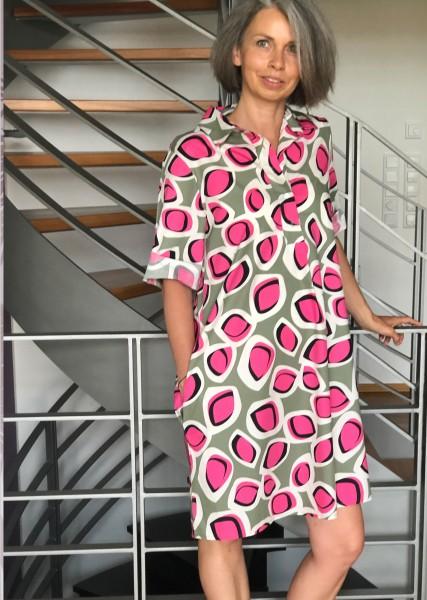 Hemdblusenkleid bedruckt