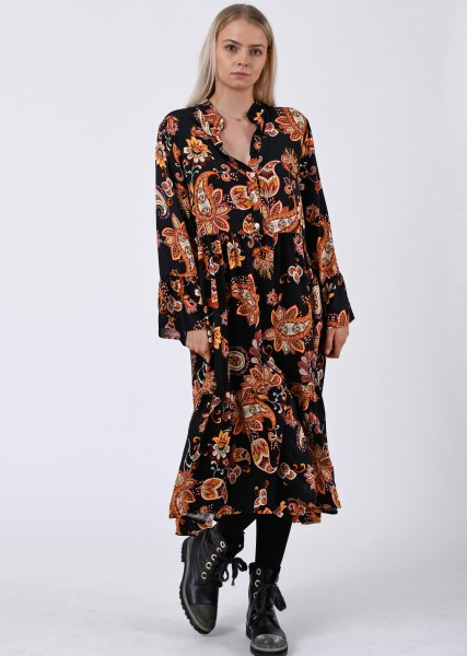 wadenlanges Kleid mit Paisleyprint