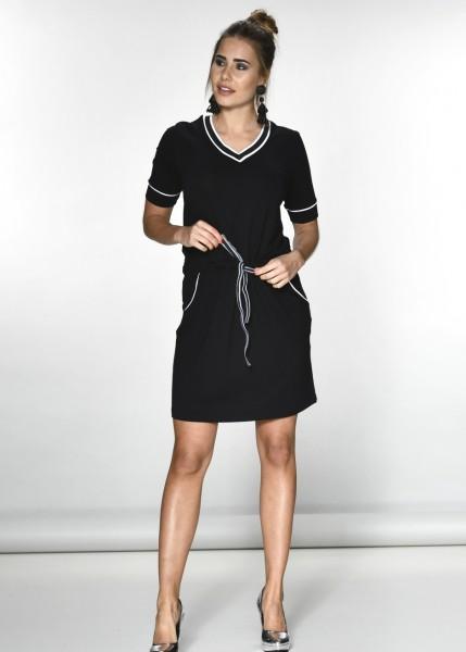 Sportives V-Ausschnitt Kleid
