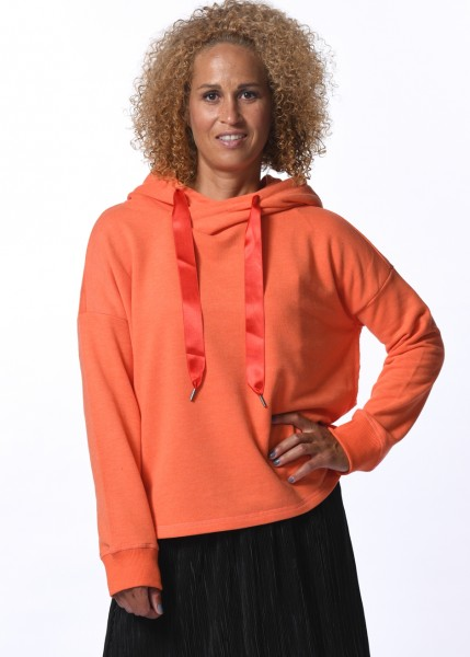 Hoodie Sweatshirt in spicy orange