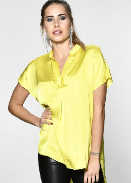 Weich fließende Bluse in lemon