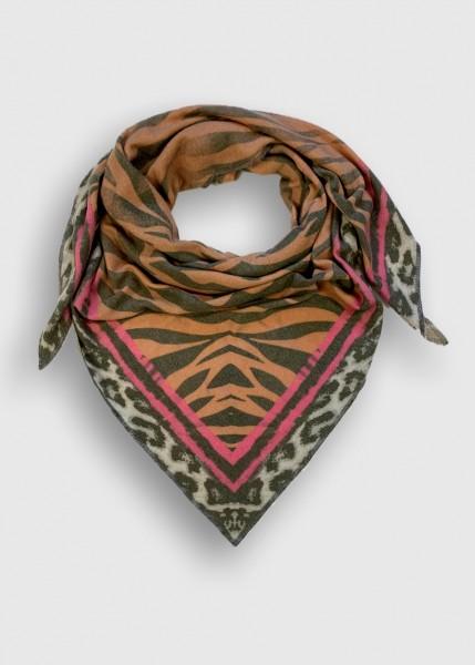 Dreieckstuch 'Zebra nougat' mit Kaschmir