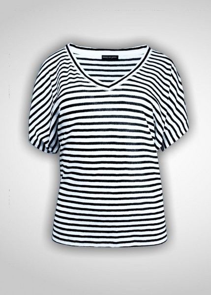 V-Shirt mit überschnittenem Ärmel