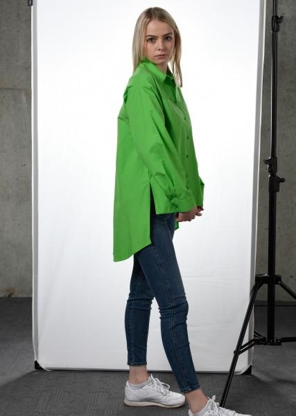 Oversized Bluse - grün- 1/1 Arm