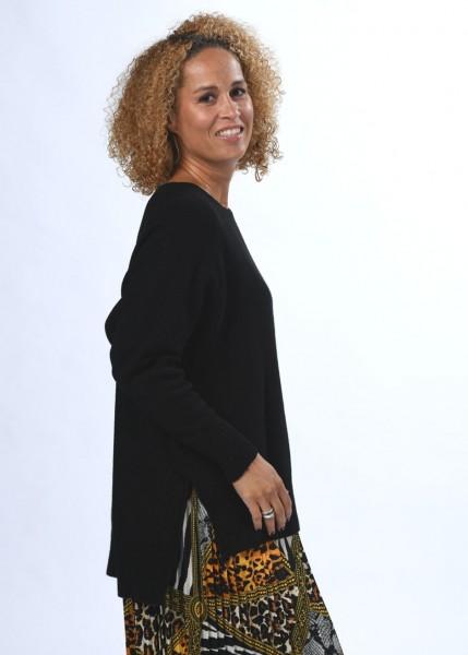Oversized Strickpullover in schwarz