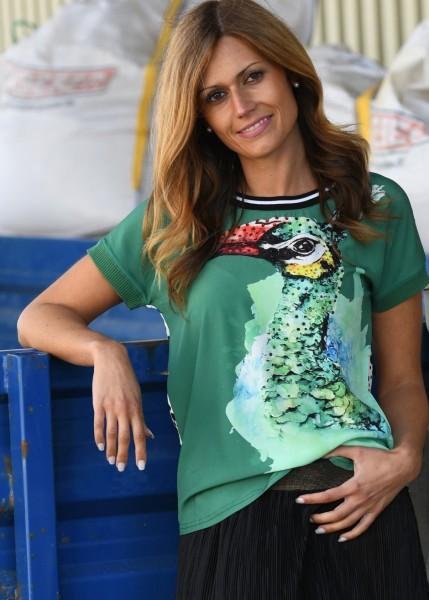 Blusenshirt mit exotischem Print