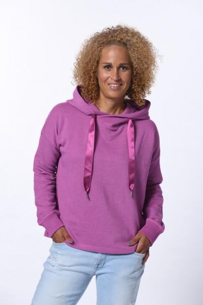 Hoodie Sweatshirt in orichid melange