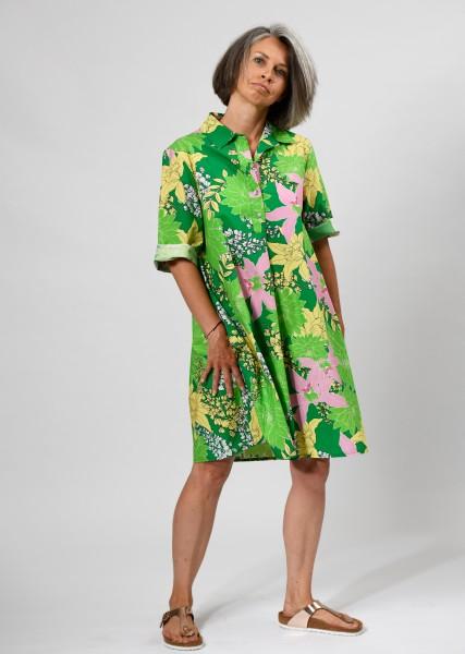 Hemdblusenkleid in ausdrucksvollem Print