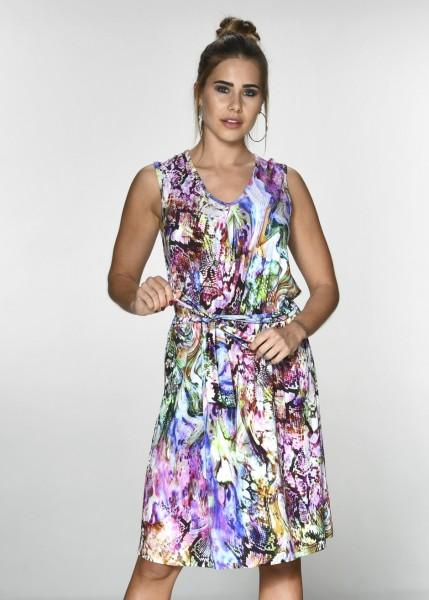 Luftiges Kleid im Allover-Schlangenprint
